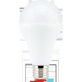 Ecola classic LED Premium 17,0W A65 220-240V E27 4000K (композит) 128x65
