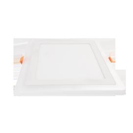 Ecola LED downlight встраив. Квадратный даунлайт с драйвером с подсветкой  9(6+3)W 220V 4200K / 2700K 145x145x20