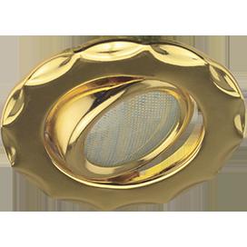 Ecola MR16 DH07 GU5.3 Светильник встр. поворотный Звезда (скрытый крепеж лампы) Золото 25x88 (кd74)
