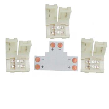 Ecola LED strip connector комплект T гибкая соед. плата + 3 зажимных разъема 2-х конт. 10 mm