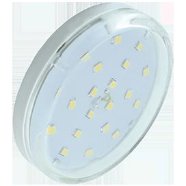 Ecola GX53 LED 6,0W Tablet 220V 4200K прозрачный поликарбонат (композит) 27x75