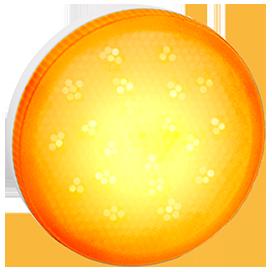 Ecola GX53 LED color 8,0W Tablet 220V Yellow Желтый матовый поликарбонат (композит) 28x74
