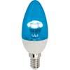Ecola candle LED color 3,0W 220V E14 Blue Синяя прозрачная свеча искристая пирамида 98x36