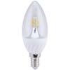 Ecola candle LED 4,0W 220V E14 4000K 320° прозрачная свеча искристая точка (керамика) 98х37