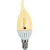 Ecola candle LED Premium 4,0W 220V E14 золотистая 320° прозрачная свеча на ветру искристая точка (керамика) 125х37