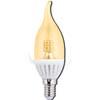 Ecola candle LED 4,0W 220V E14 золотистая 320° прозрачная свеча на ветру искристая точка (керамика) 125х37
