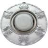 Ecola накладка широкая гипсовая листья для встр. свет-ка GX53 H4 серебро на белом 19х195