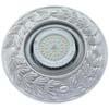 Ecola накладка широкая гипсовая оливковый венок для встр. свет-ка GX53 H4 серебро на белом 23х195