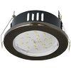 Ecola GX53 H9 защищенный IP65 светильник встраив. без рефл. черный хром 98х55