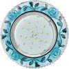Ecola GX53 H4 LD7071 Светильник встр. искристый с подсветкой Розы Прозрачный и Голубой / Хром 35x125 (к+)