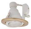 Ecola GU10 DU5085 светильник (только для ламп *ECD) встраив. поворотный легкий золото 73x85