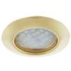 Ecola Light MR16 DL92 GU5.3 Светильник встр. выпуклый Золото 30x80