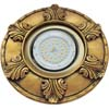Ecola накладка широкая гипсовая листья для встр. свет-ка GX53 H4 черненое золото 19х195