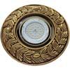 Ecola накладка широкая гипсовая оливковый венок для встр. свет-ка GX53 H4 черненое золото 23х195