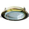 Ecola GX70-H5 светильник золото встр. без рефл. 53x151