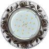 Ecola GX53 H4 LD7071 Светильник встр. искристый с подсветкой Розы Прозрачный и Черный / Хром 35x125 (к+)
