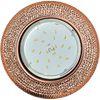 Ecola GX53 H4 LD7069 Светильник встр. искристый с подсветкой Модерн Светло-золотистый / Черненая медь 35x125 (к+)
