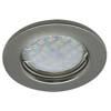 Ecola Light MR16 DL90 GU5.3 Светильник встр. плоский Черный Хром 30x80