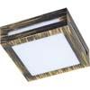 Ecola GX53 LED 3082W светильник накладной IP65 матовый Квадрат металл. 1*GX53 Черненая бронза 136x136x55