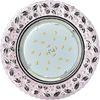 Ecola GX53 H4 LD7040 Светильник встр. искристый с подсветкой Бабочки Светло-розовый / Хром 35x125 (к+)