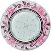 Ecola GX53 H4 LD7071 Светильник встр. искристый с подсветкой Розы Прозрачный и Розовый / Хром 35x125 (к+)
