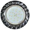 Ecola GX53 H4 5361 Glass Круг с крупными стразами Конус/фон черн./центр.часть хром 52x120 (к+)