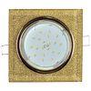 Ecola GX53 H4 Glass Стекло Квадрат скошенный край Золото - золотой блеск 38x123x123 (к+)