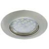 Ecola Light MR16 DL92 GU5.3 Светильник встр. выпуклый Сатин-Хром 30x80