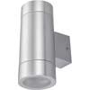 Ecola GX53 LED 8013A светильник накладной IP65 прозрачный Цилиндр металл. 2*GX53 Cатин-хром 205x140x90