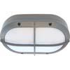 Ecola GX53 LED B4148S светильник накладной IP65 матовый Овал с решеткой алюмин. 2*GX53 Серый 215x135x65