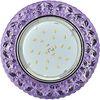 Ecola GX53 H4 LD7040 Светильник встр. искристый с подсветкой Бабочки Сиреневый / Хром 35x125 (к+)