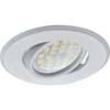 Ecola MR16 DH09 GU5.3 Светильник встр. поворотный плоский (скрытый крепеж лампы) Белый 25x90