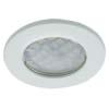 Ecola Light MR16 DL90 GU5.3 Светильник встр. плоский Белый 30x80