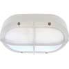 Ecola GX53 LED B4148S светильник накладной IP65 матовый Овал с решеткой алюмин. 2*GX53 Белый 215x135x65