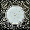 Ecola GX53 H4 Glass Квадрат с прозр. мозаикой/фон черный./центр.часть хром 40x123x123