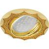Ecola MR16 DL36S GU5.3 Светильник встр. поворотный Звезда под стеклом Золотой блеск/Золото 26x84