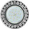 Ecola GX53 H4 LD7040 Светильник встр. искристый с подсветкой Бабочки Тонированный / Хром 35x125 (к+)