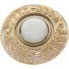 Ecola накладка широкая гипсовая оливковый венок для встр. свет-ка GX53 H4 золото на белом 23х195