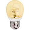 Ecola globe LED 4,2W G45 220V E27 золотистый прозрачный шар искристая пирамида (композит) 84x45