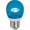 Ecola globe LED color 3,0W G45 220V E27 Blue Синий прозрачный шар искристая пирамида 84x45