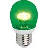 Ecola globe LED color 3,0W G45 220V E27 Green Зеленый прозрачный шар искристая пирамида 84x45