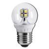 Ecola globe LED 4,0W G45 220V E27 2700K 320° прозрачный шар искристая точка (керамика) 76х45
