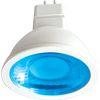 Ecola MR16 LED color 4,2W 220V GU5.3 Blue Синий прозрачный поликарбонат (композит) 47х50