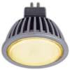 Ecola MR16 LED 5,4W 220V GU5.3 золотистая матовое стекло (ребристый алюм. радиатор) 47x50