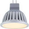Ecola MR16 LED Premium 7,0W 220V GU5.3 золотистая матовое стекло (ребристый алюм. радиатор) 51x50