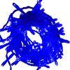 Ecola LED гирлянда 220V IP20 Нить Синяя Blue 100Led 6м, 8 режимов, прозр.провод с вилкой