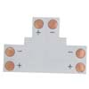Ecola LED strip connector гибкая соед. плата T для зажимного разъема 2-х конт. 8 mm уп. 5 шт.