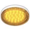 Ecola GX53 LED color 4,4W Tablet 220V Yellow Желтый прозрачный поликарбонат 27x74