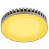 Ecola GX53 LED color 6,1W Tablet 220V Yellow Желтый (насыщенный цвет) матовое стекло (ребристый алюм. радиатор) 28x74