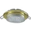 Ecola Light GX53-H6 светильник металл. встраиваемый плоский золото 101x16